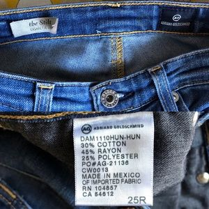 Ag Adriano Goldschmied Jeans - AG Adriano Goldschmied The Stilt jean size 25R